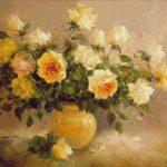 Goblen - Trandafiri galbeni