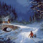 Goblen - Peisaj de iarna (5)