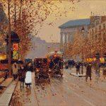 Goblen - Stradă în Paris toamna