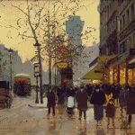 Goblen - Apus de toamna in Paris