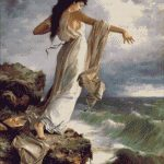 Goblen - Sapho aruncandu-se in mare