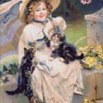 Goblen - Fetiţa cu pisici