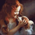 Goblen - Fetiţa cu căţel (2)