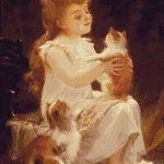 Goblen - Fetiţa cu pisici (2)
