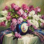 Goblen - Liliac înflorit