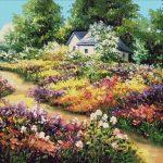 Goblen - Florile gradinii