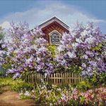 Goblen - Primăvară în violet
