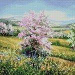 Goblen - Primăvara pe câmp