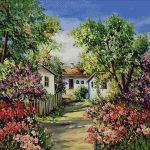 Goblen - Satul de Florii