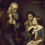 Goblen - Bunicul cu nepoţii