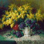 Goblen - Mimoze şi violete
