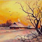 Goblen - Amurg auriu