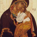 Goblen - Maica Domnului cu pruncul