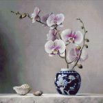 Goblen - Orhidee in vas de portelan