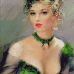 Goblen - Eleganta in verde