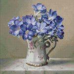 Goblen - Violete in carafa de portelan