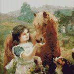 Goblen - Hranind animalele