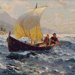 Goblen - Indragostiti pe mare