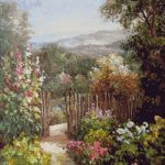 Goblen - Gradina de flori