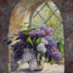 Goblen - Liliac la fereastra