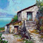Goblen - Peisaj cu casa