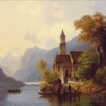 Goblen - Intoarcerea acasa de la Liturghie