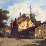 Goblen - Vedere pe o strada suburbana