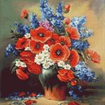 Goblen - Flori de camp cu anemone