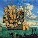 Goblen - Corabie cu fluturi