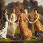 Goblen - Muze dansând în cerc