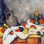 Goblen - Natură statică cu fructe şi draperie