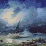 Goblen - Furtuna pe mare