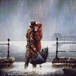 Goblen - Sarut in ploaie