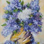 Goblen - Liliac in vaza de lut
