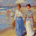 Goblen - Plimbare pe plaja